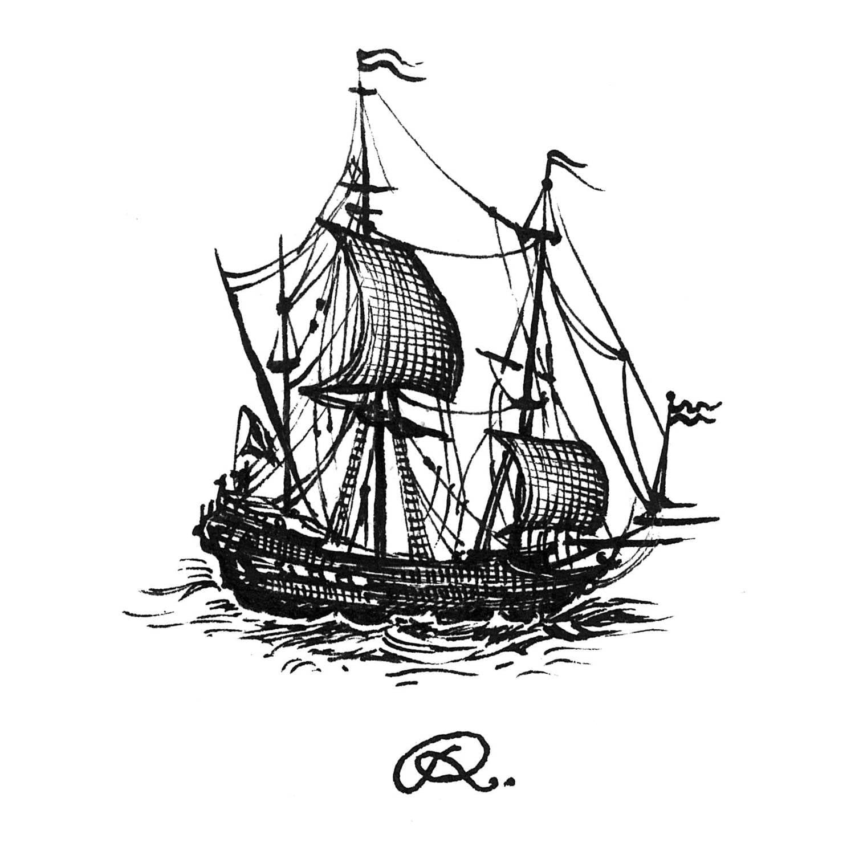 Pirate ship Intricate Ink-0
