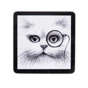 Cat Monocle Square Placemat (Set of 4)-0