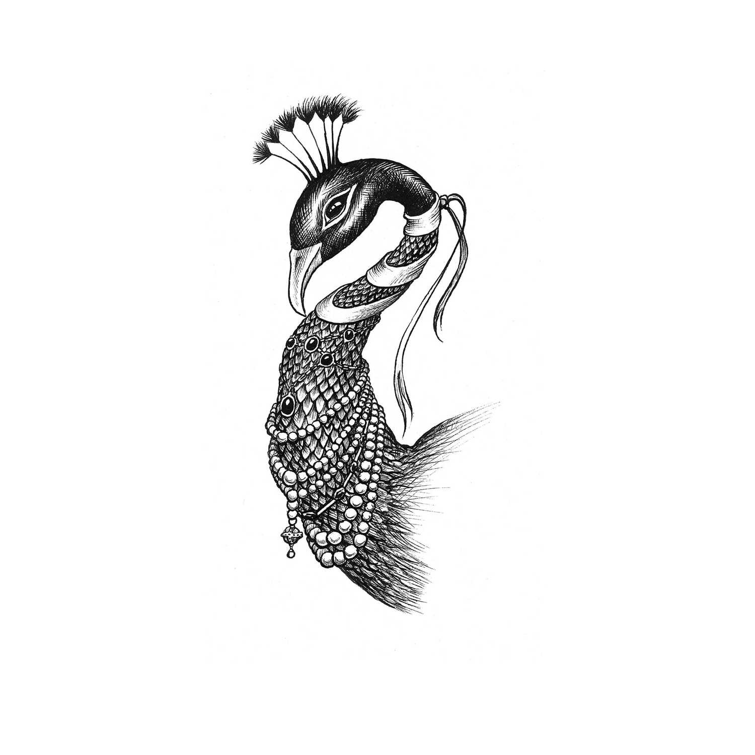 Pretty as a Peacock Intricate Ink-0