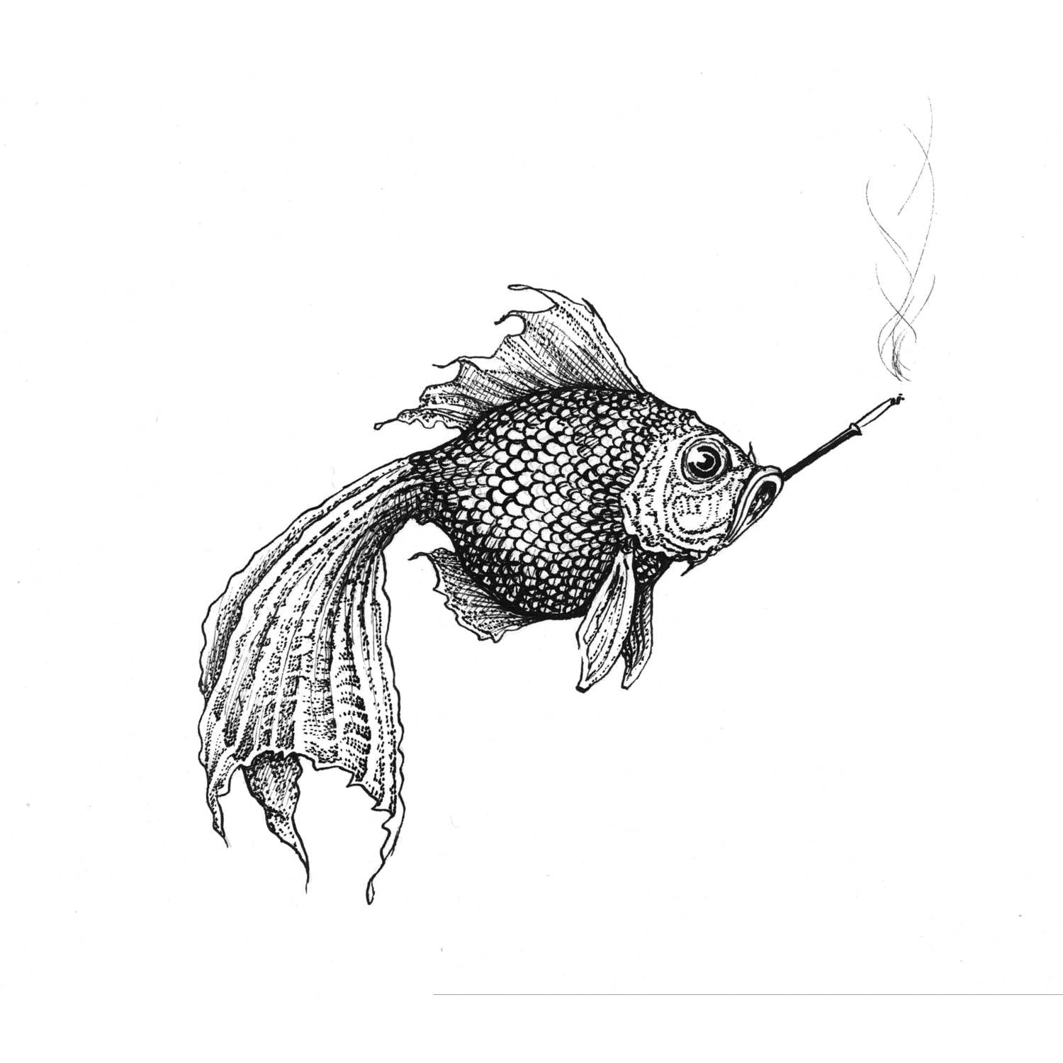 Smokey Fish Intricate Ink Print-0