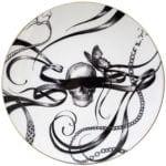 Swirly Masked Skull Plate-0