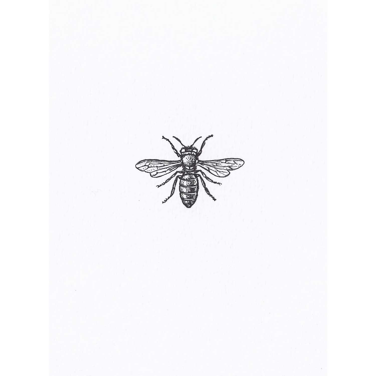 Teeny Weeny Bumble Bee Intricate Ink Print-0