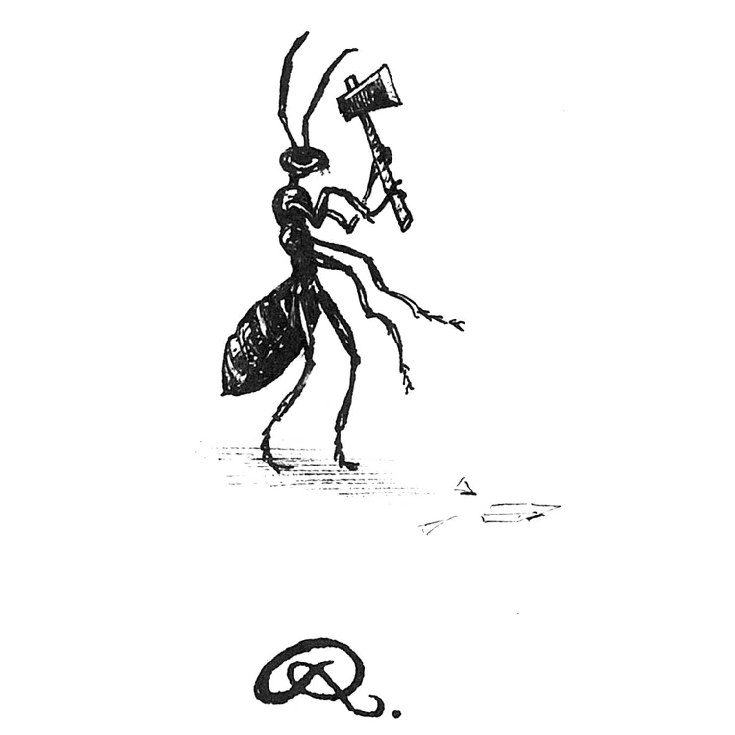 The Great Escape Ant Intricate Ink Print-0