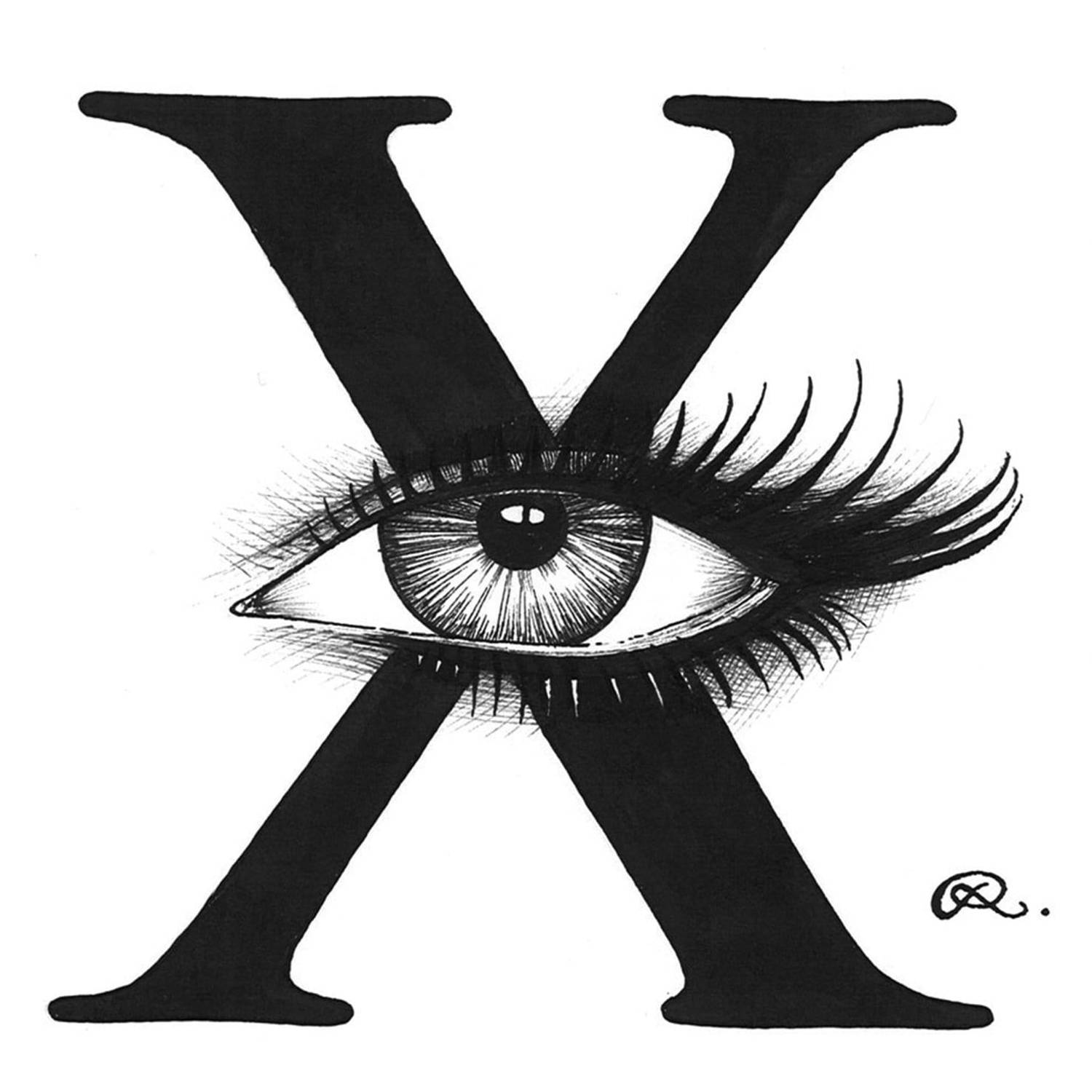 X - X-Ray Vision Intricate Ink Print-0