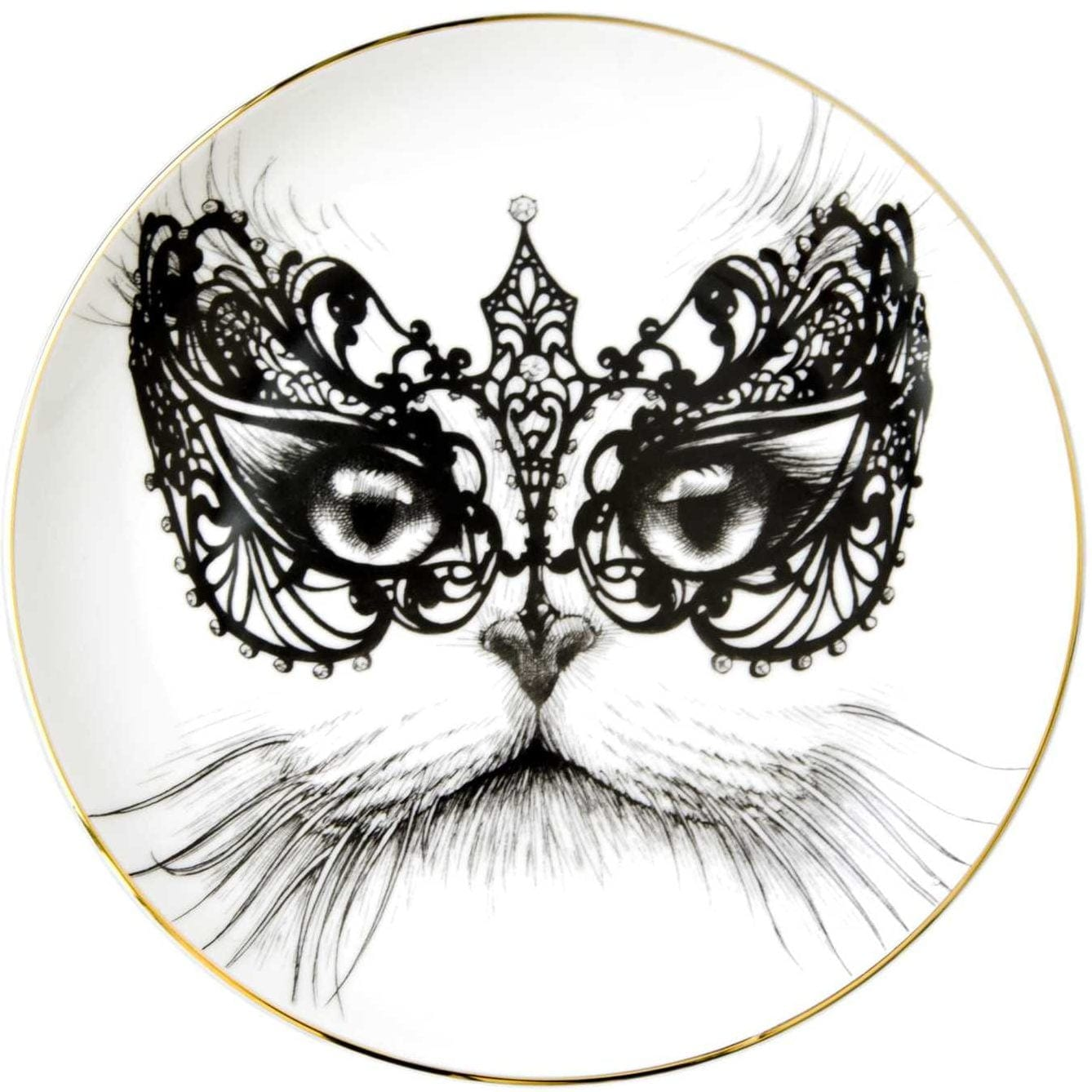 Masked Cat Plate-0