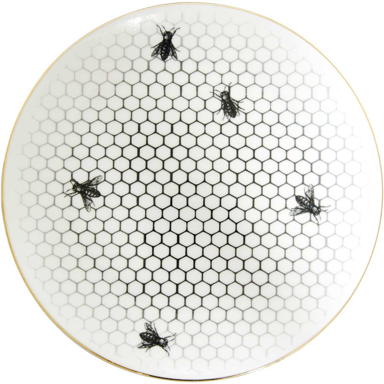 Bees All Over Plate-0