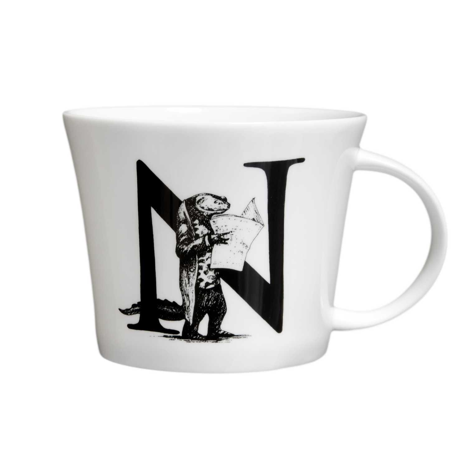 N - Newt With Newspaper Mighty Mug-0
