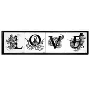 LOVE Tiles Framed-0