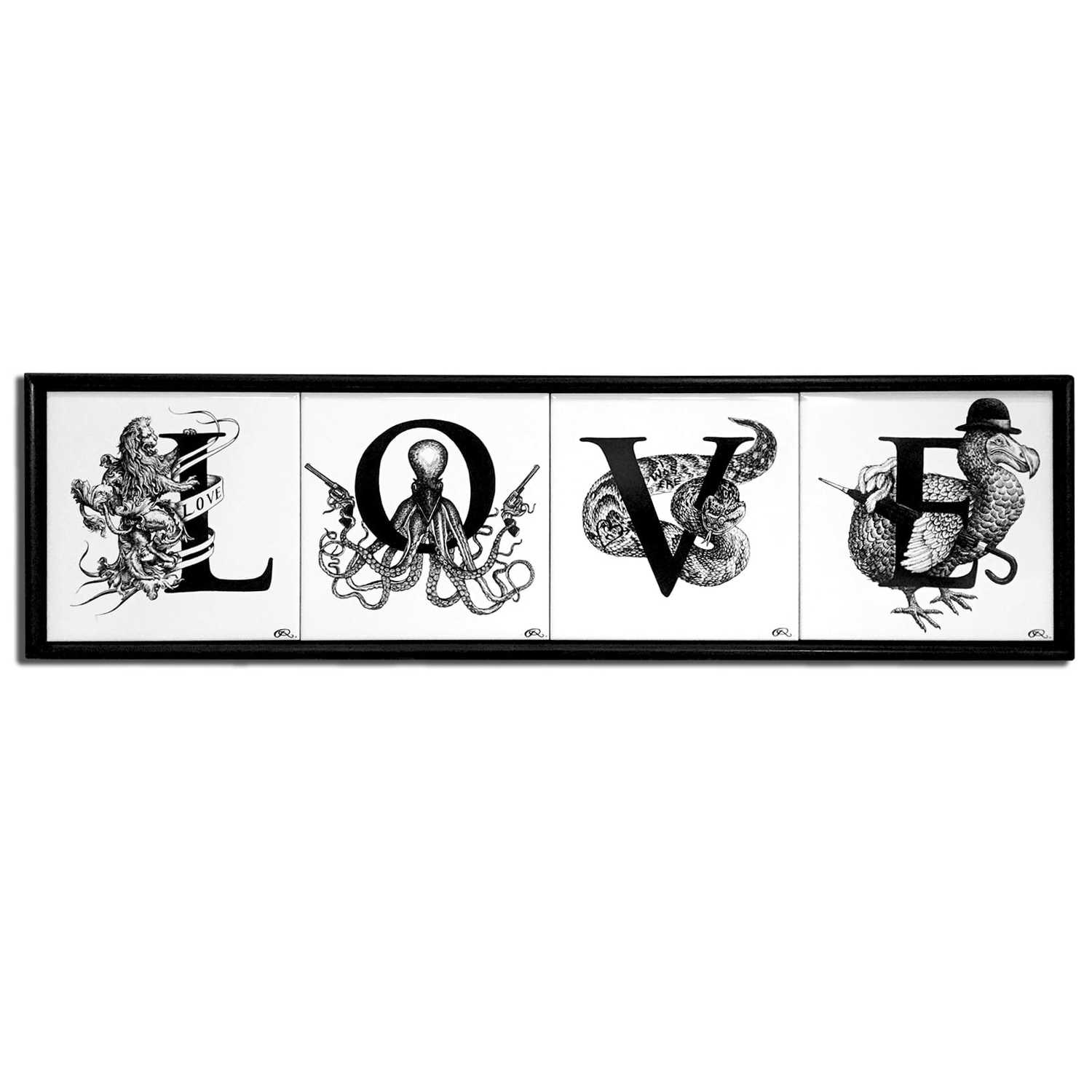 LOVE Tiles Framed-0