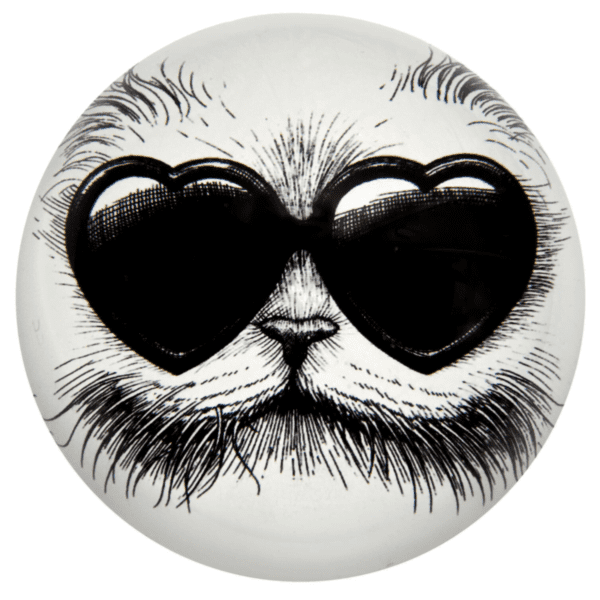 Love Cat Paperweight Domed-0