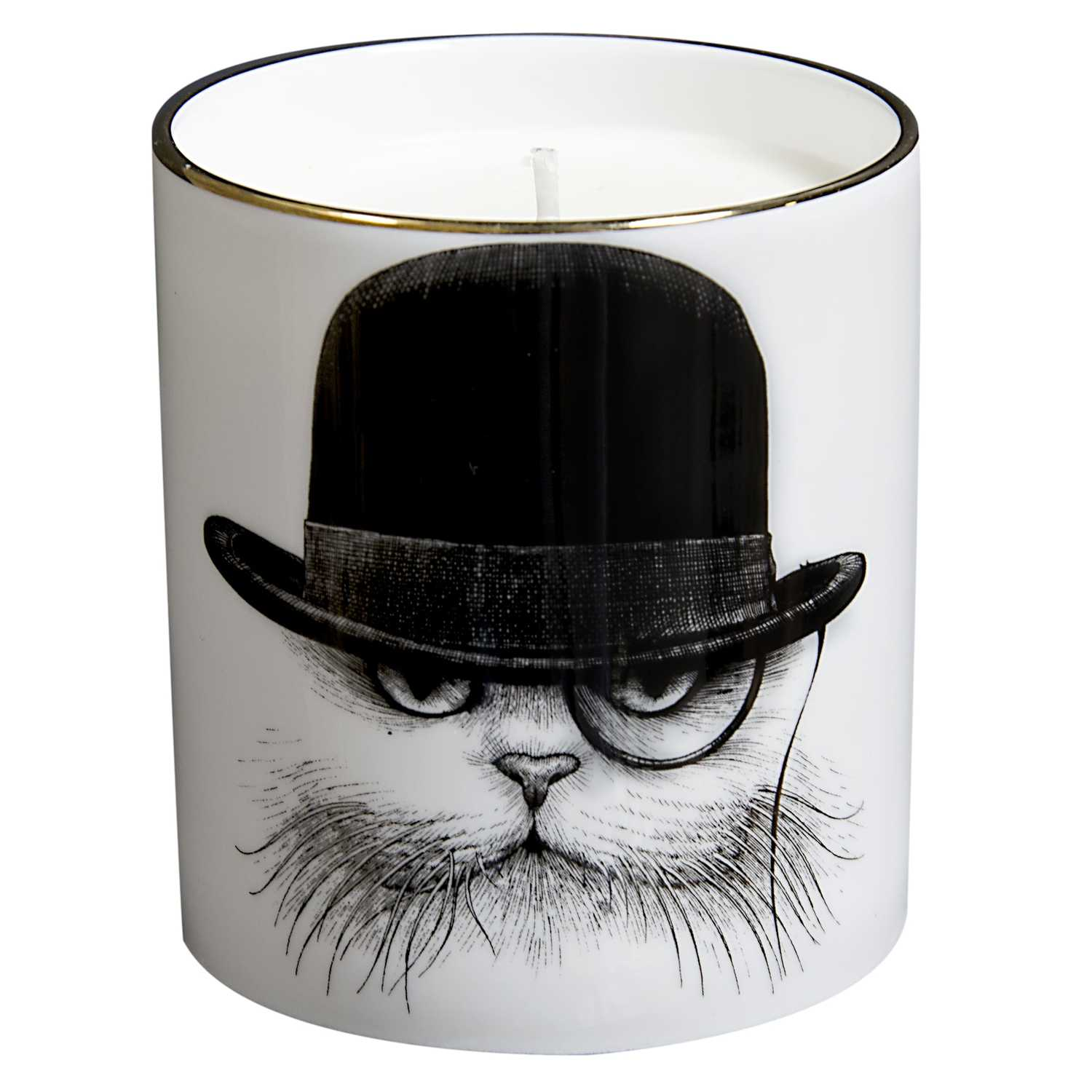 Cat in Hat Down Cutesy Candle-0