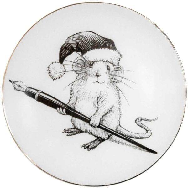 Christmas Mouse Plate-0
