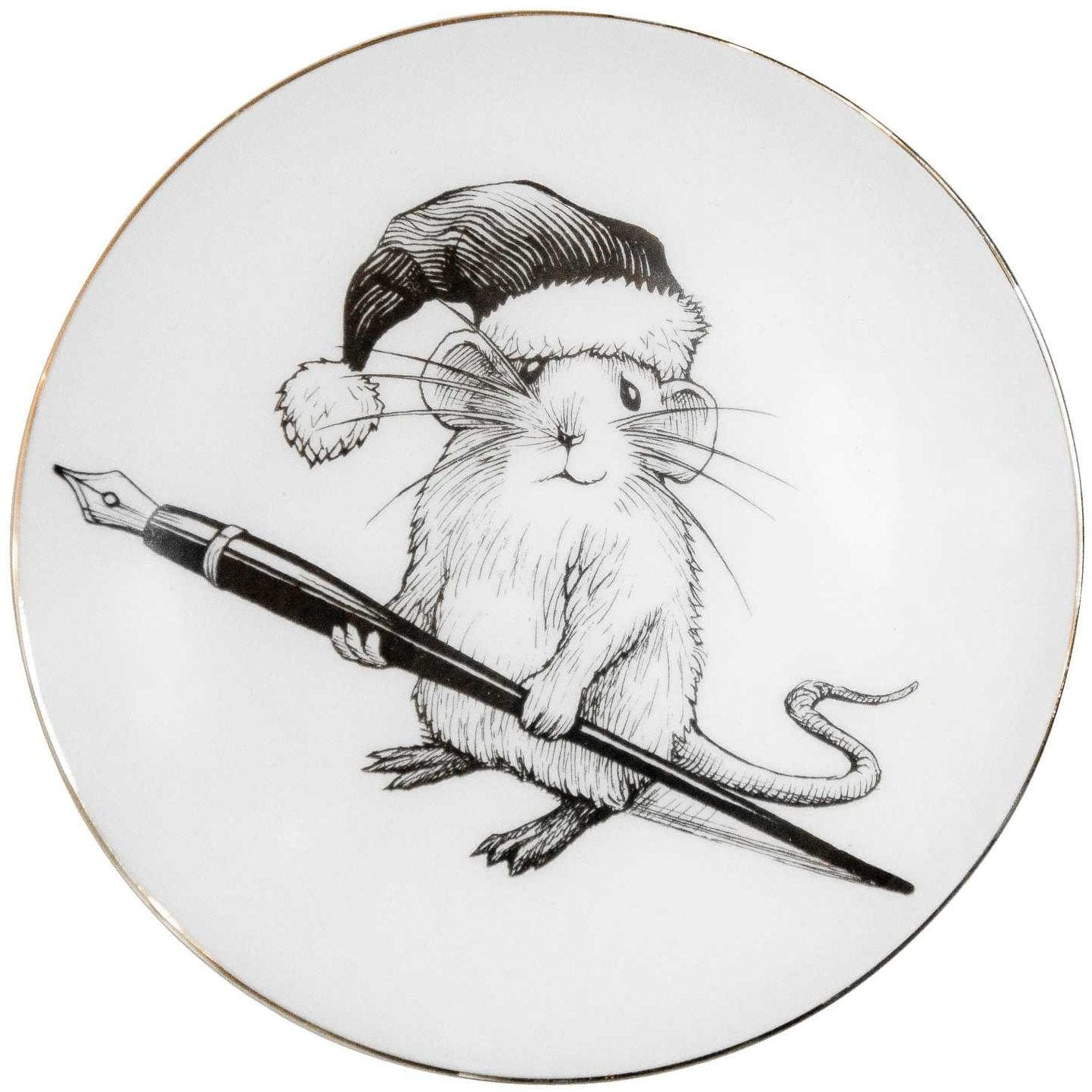 Christmas Mouse Plate Coaster