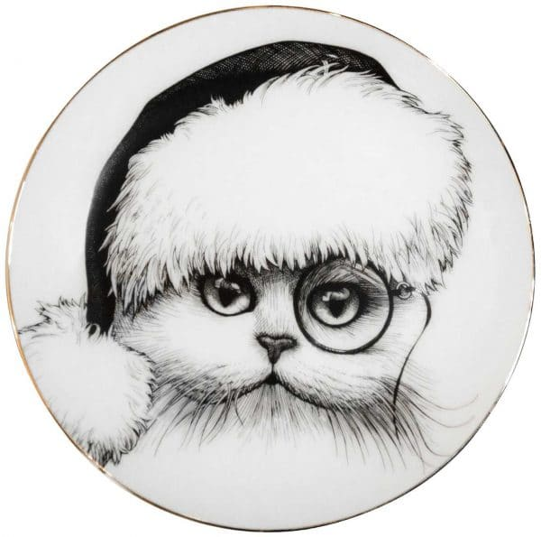 Santa Cat Plate-0