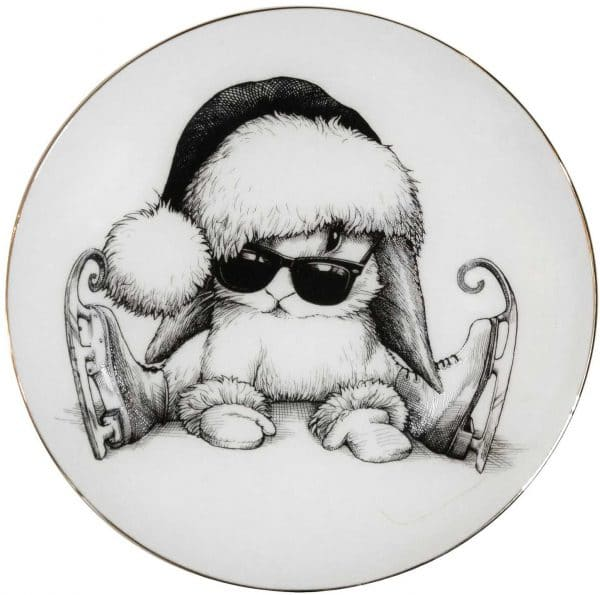 Clumsy Bunny Plate Coaster