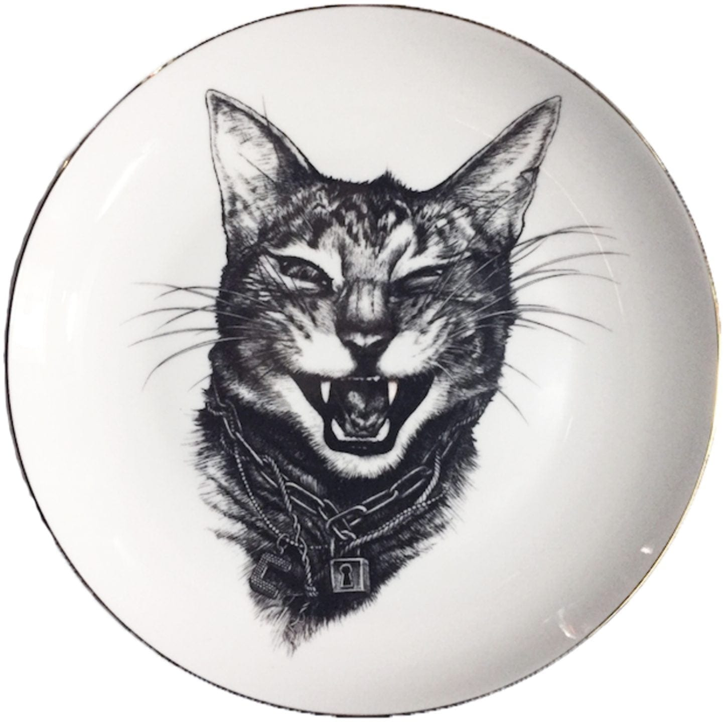 Gangster Cat Plate-0