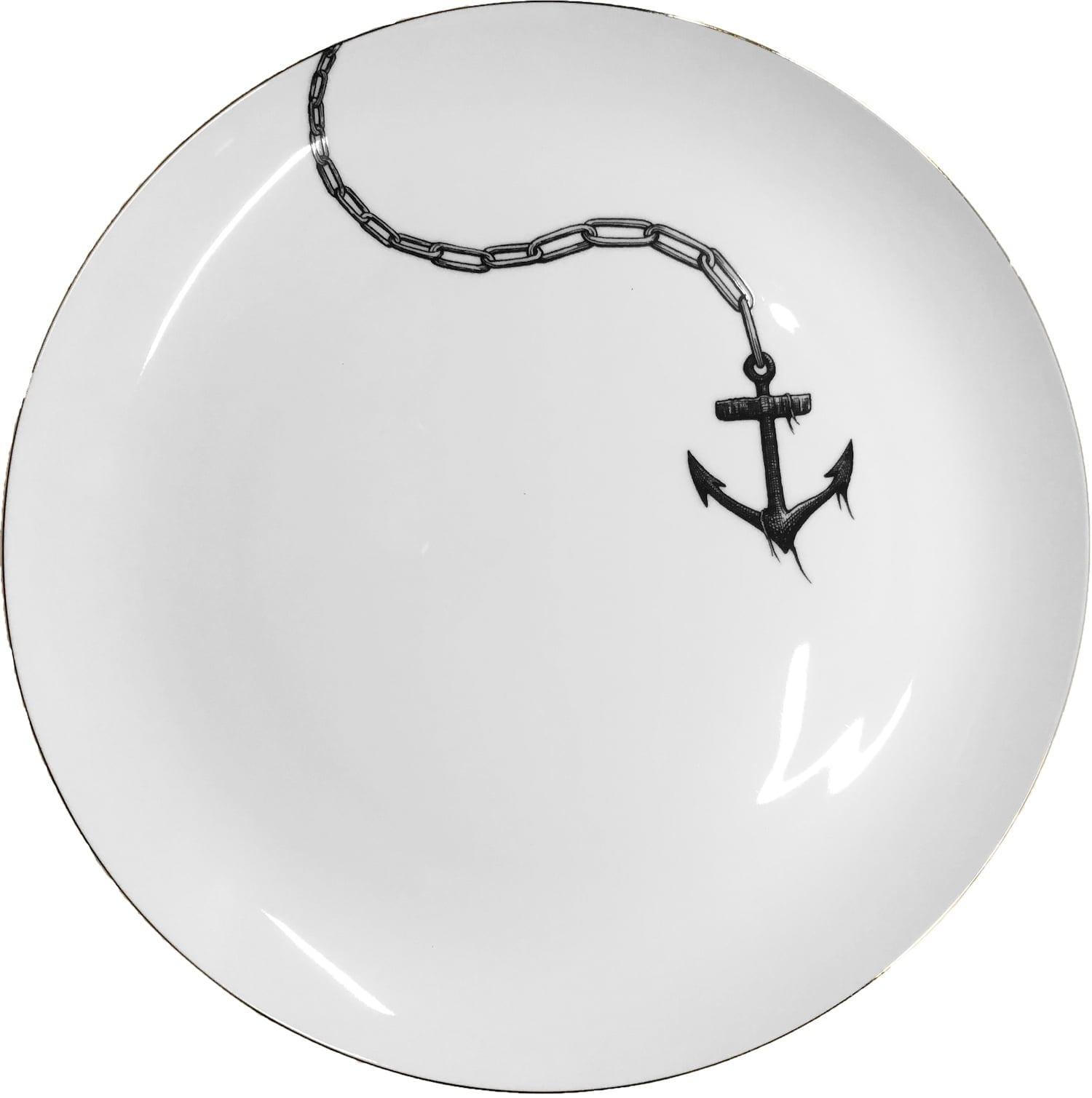 Anchors Away plate coaster