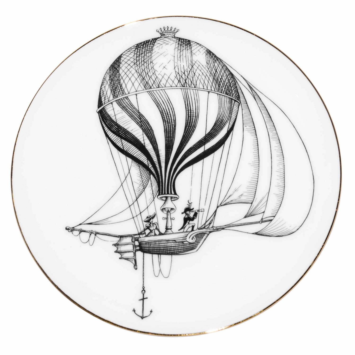 Pirate Ship Balloon Plate Coaster