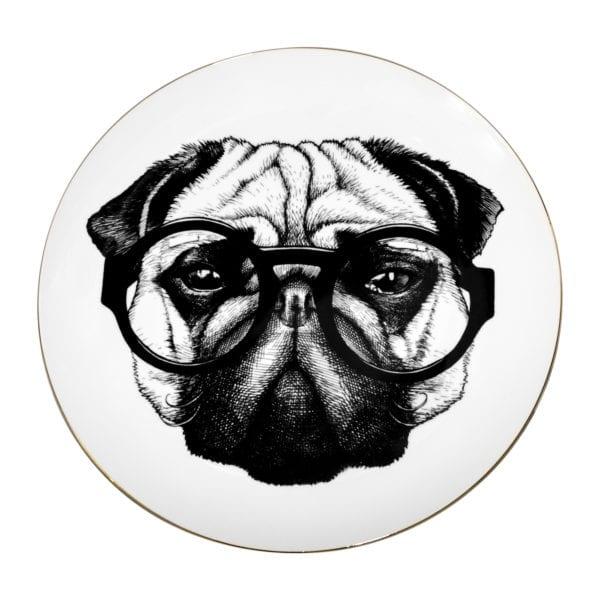 Percy Pugworthy Plate Coaster Pug Dog