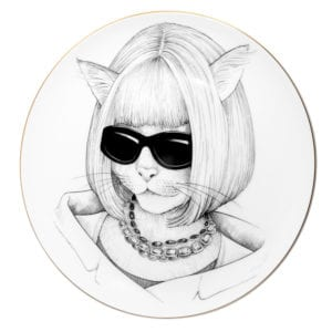 Cat portrait shot sunglasses and chic bob